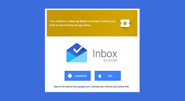 Inviti per Inbox by Gmail