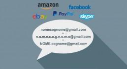 Gmail email con punto da omonimi