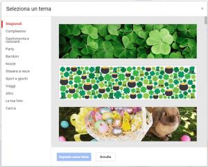 Google Calendar Selezione Tema Evento g+ da desktop