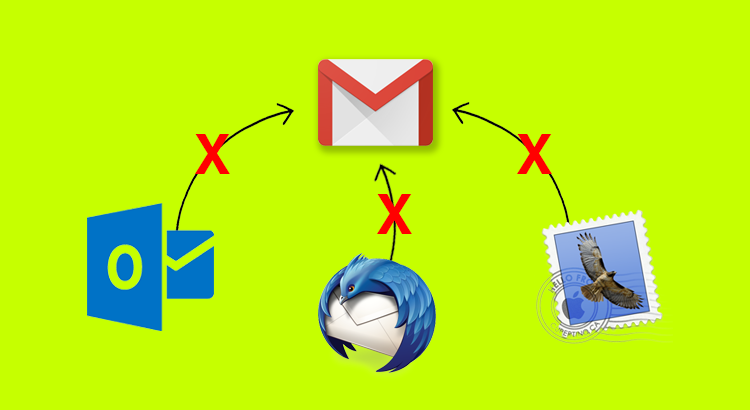Errore collegamento client Gmail (Outlook, Thunderbird, Mail)