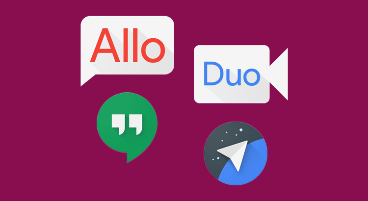 Google Allo, Duo, Hangouts e Spaces