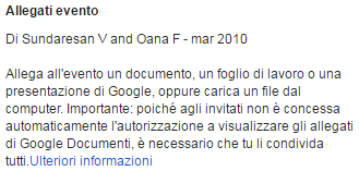 Google Calendar Lab Allegati evento