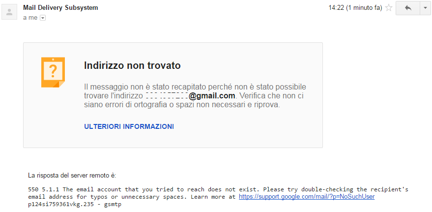 Mail Delivery Subsystem (Nuovo Messaggio)