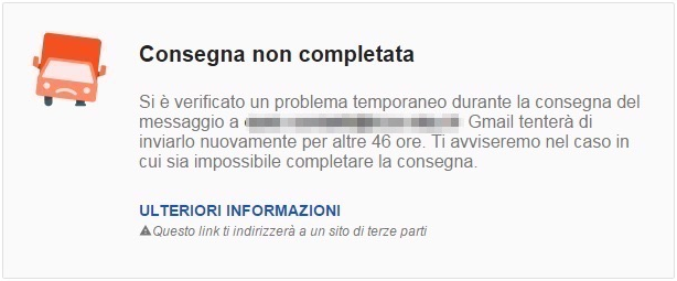 Mail Delivery Subsystem (Consegna non completata)
