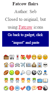 Go back to gadget click import and paste
