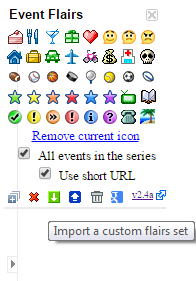 Import a custom flairs set