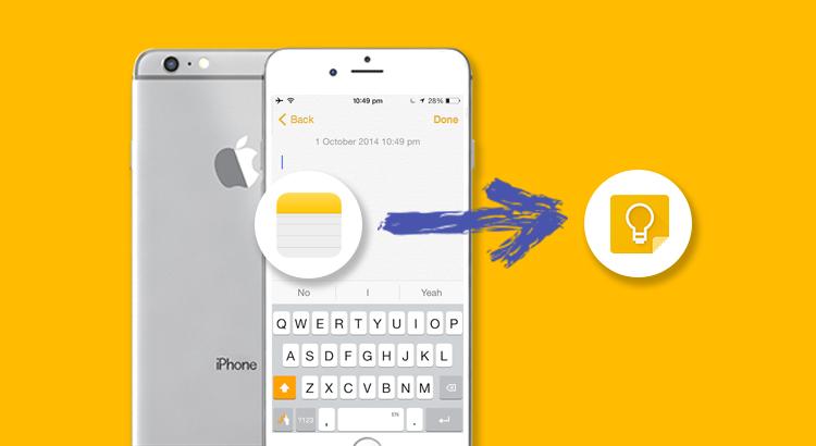 App Note di iOS sincronizzata con Gmail