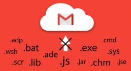 Gmail alcuni tipi di file sono bloccati