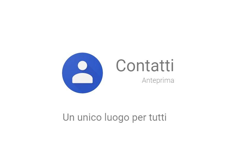 Contatti Google nuova Anteprima