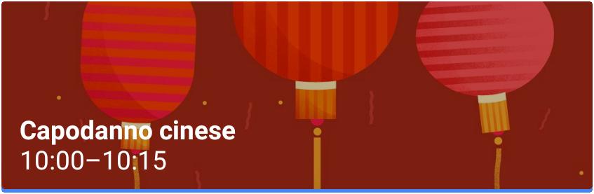 Capodanno cinese Evento Google Calendar