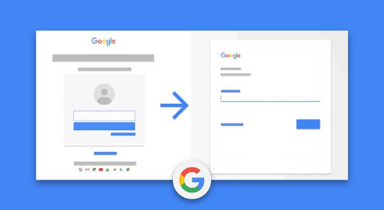 Nuova pagina di login per gli Account Google