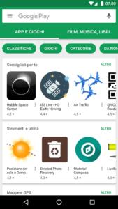 L'applicazione Play Store su Android