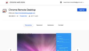 Chrome Remote Desktop: aggiungi
