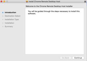installazione IOS Chrome Remote Desktop