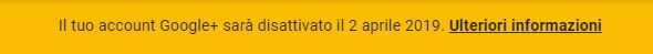Google+ chiude banner