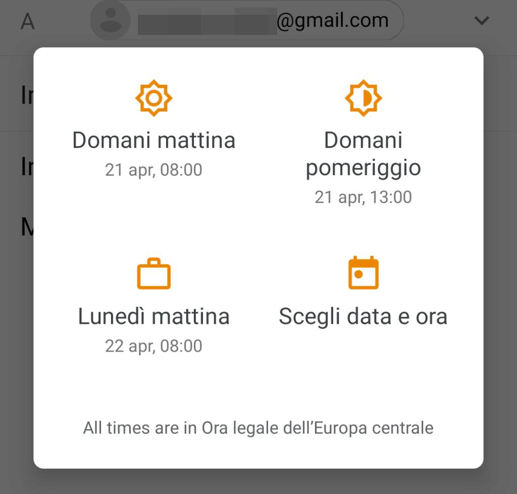 opzioni data e ora app